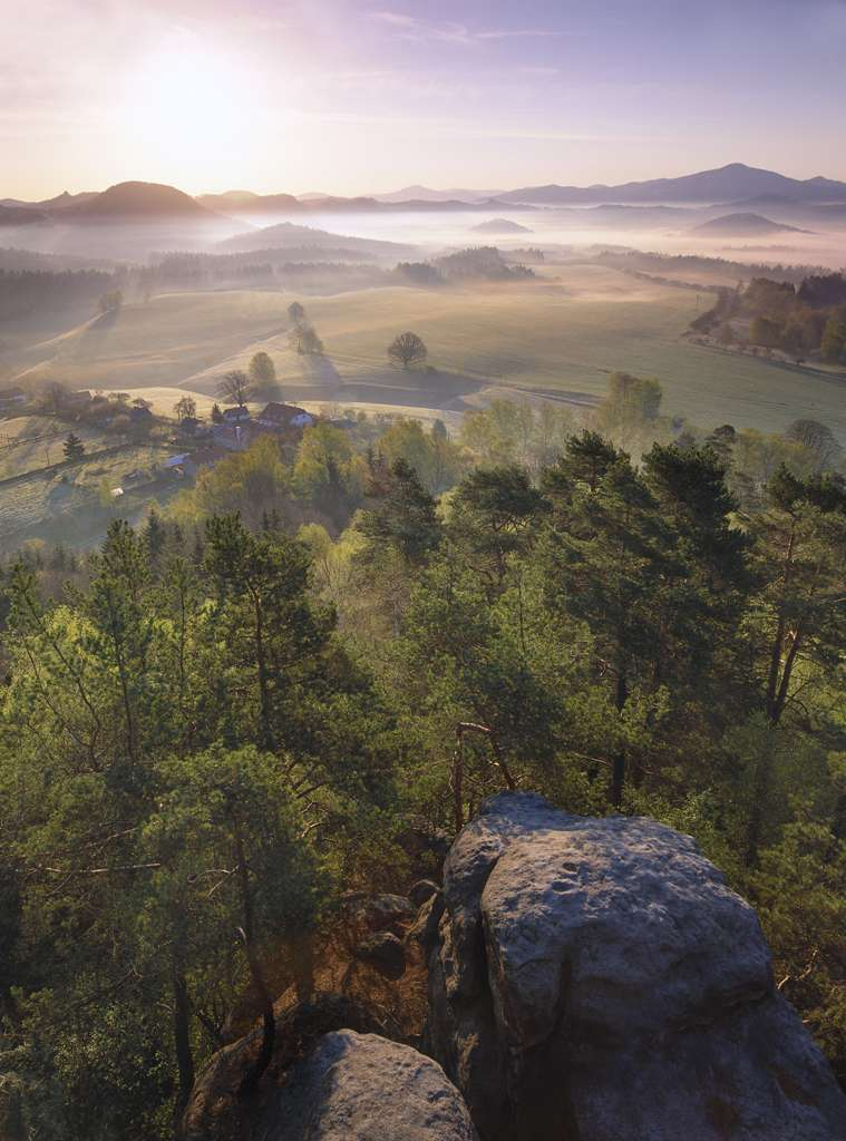Ráno ze Zámeckého vrchu