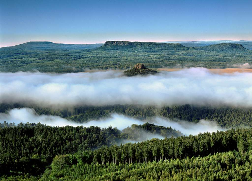 Stolové hory s mlhou